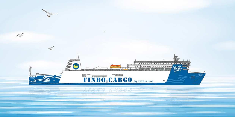Eckerö Linen uuden rahtilaivan nimi on Finbo Cargo
