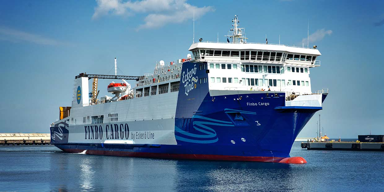 Finbo Cargo aloittaa liikennöinnin rahtialuksena maanantaina 6.4.