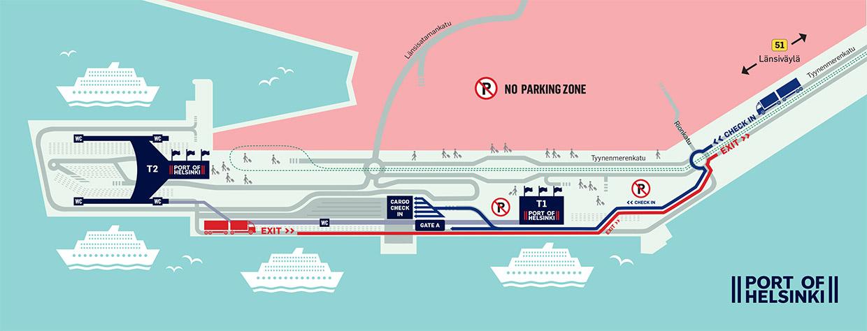 Länsisataman raskas liikenne kokonaan Tyynenmerenkadulle 13.1. alkaen – Henkilöautoilijoiden kannattaa valita Länsisatamankatu