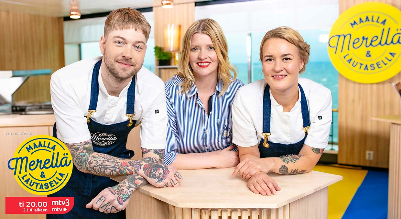 Ruokaseikkailu Maalla, merellä ja lautasella alkaa MTV3-kanavalla 21.4. – Päänäyttämönä Eckerö Linen m/s Finlandia