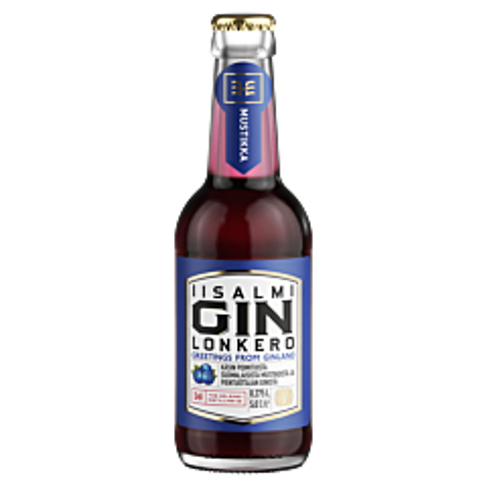 Olvi Iisalmi Blueberry Gin Long Drink 24-pack