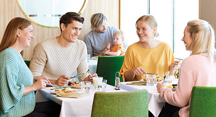 ruokailu Buffet Eckerössä