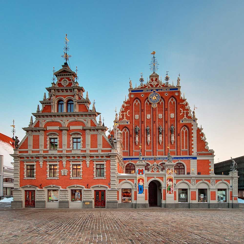 Riika Latvia Mustapäiden talo, Lähde: Lähde:  latvia.travel, Investment and Development Agency of Latvia