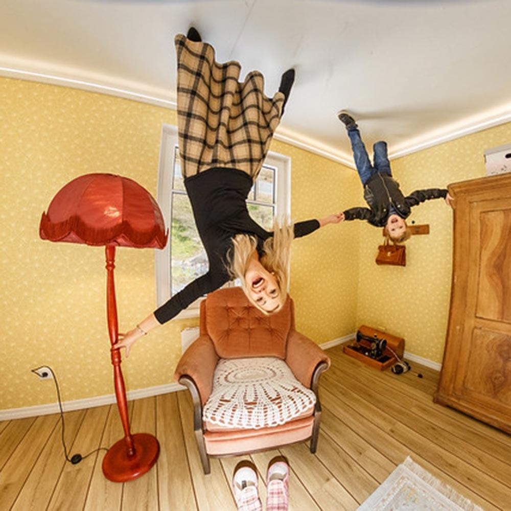 Ylösalaisin-talo eli Tagurpidi Maja on elämys lapsenmieliselle.