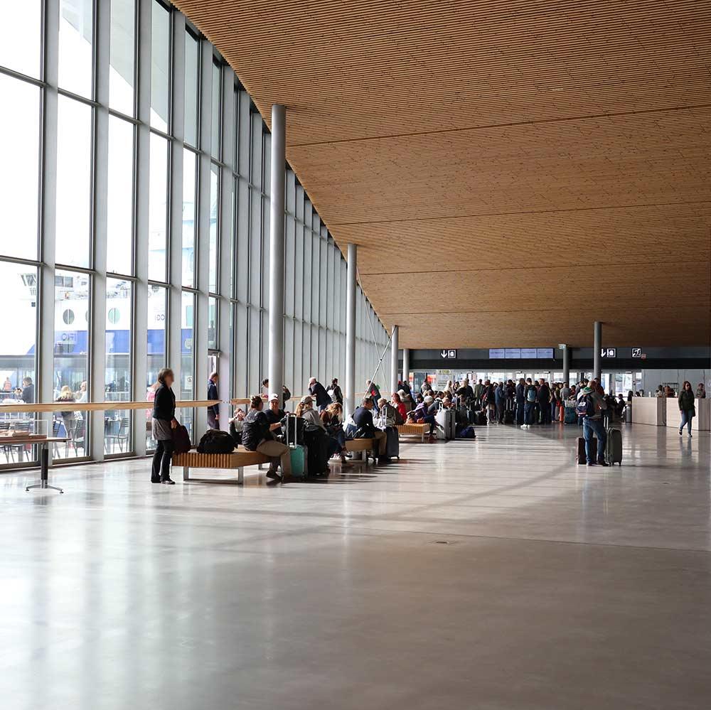 Eckerö Line lähtöselvitys check in